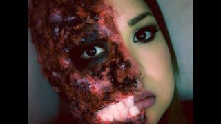 Maquillaje de Halloween: cara quemada