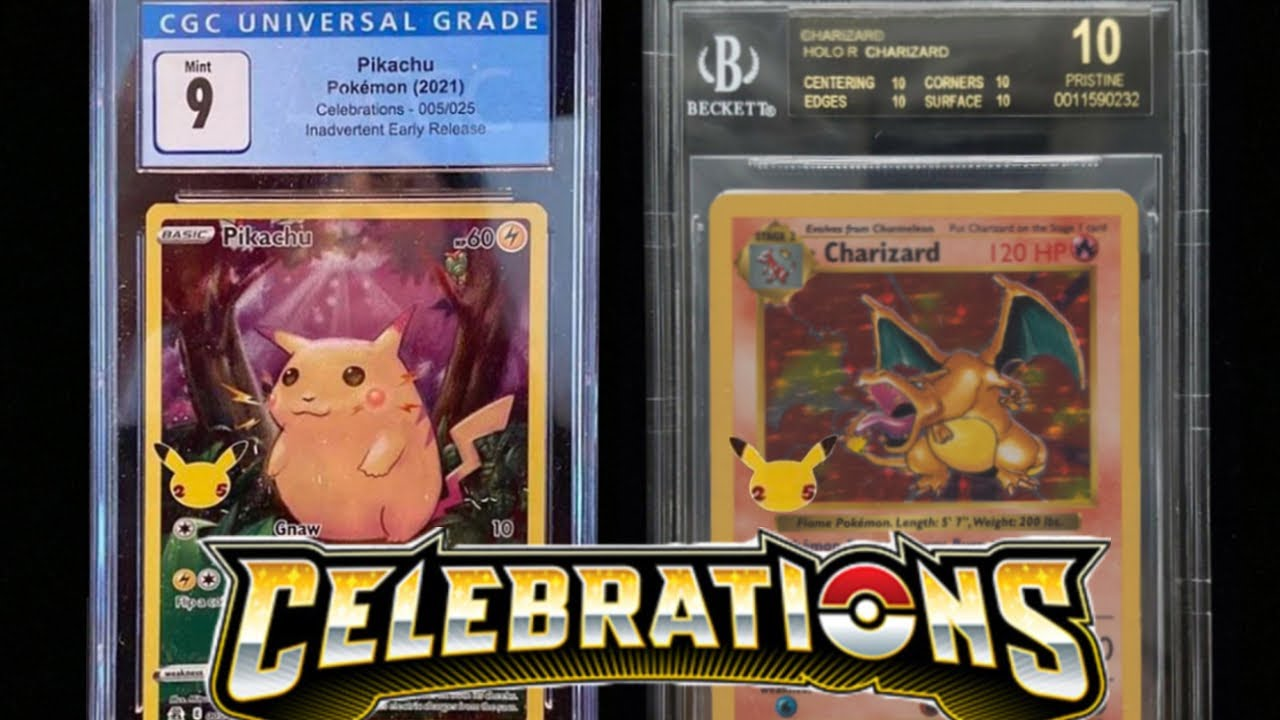 Download 1st CGC Graded Celebrations Pokemon Cards LEAKED! - 25th Anniversary