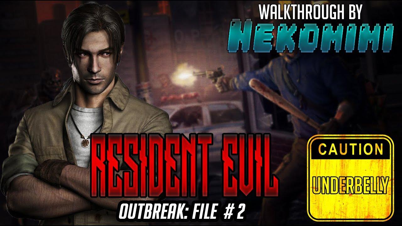 detonado resident evil outbreak file #2