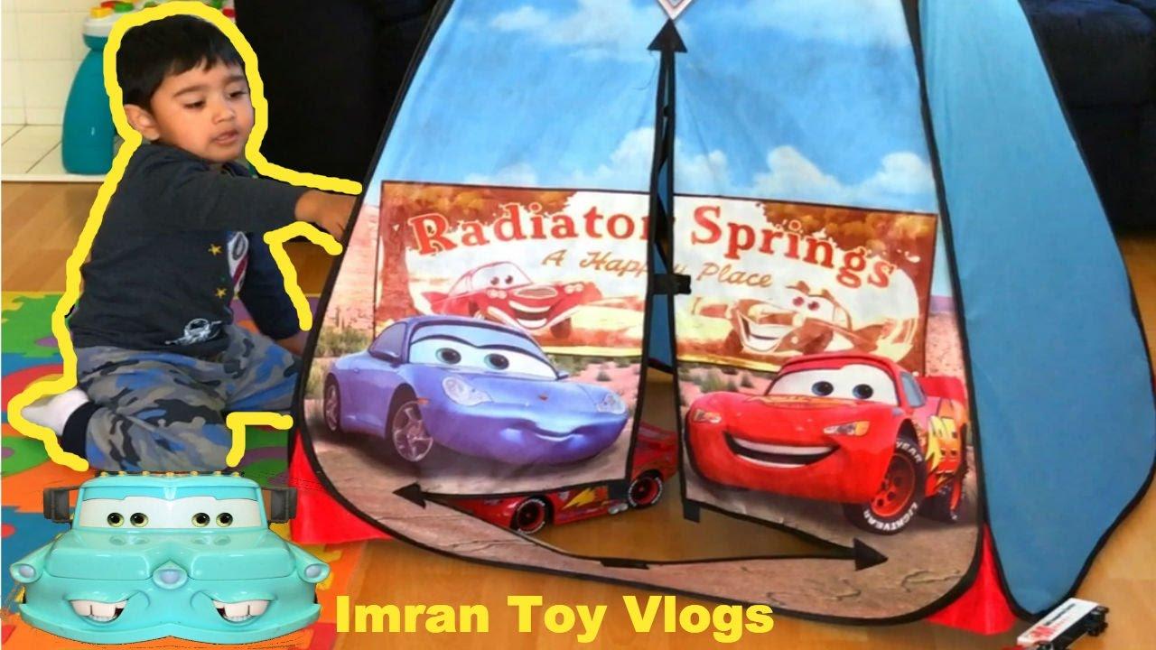 Disney Cars Toys Tent Lightning McQueen Rayo McQueen Juguetes  sc 1 st  YouTube & Disney Cars Toys Tent Lightning McQueen Rayo McQueen Juguetes ...