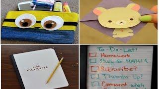 ✂ Diy: Simple Back To School Supplies/tools