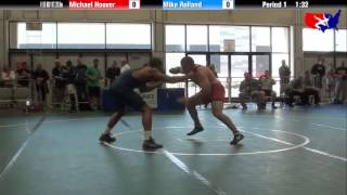 Michael Hoover vs. Mike Rolland at 2013 Veterans Nationals - Freestyle