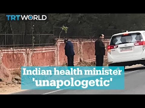 Indias Rajasthan health minister caught urinating in public