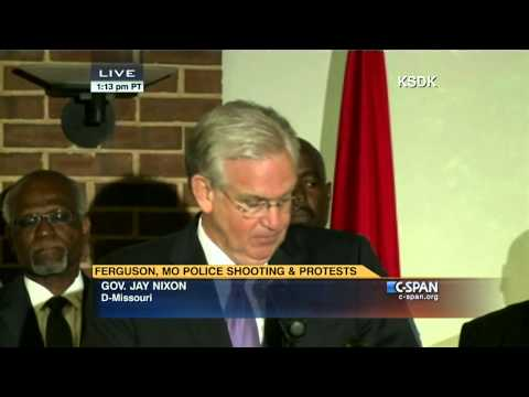 Missouri Governor Jay Nixon Ferguson Press Conference (C-SPAN)