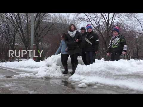 USA: Snowstorm strikes Washington DC