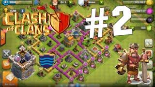 【Clash of Clans】- Clan wars,Barbarian king?:) #2-cz-