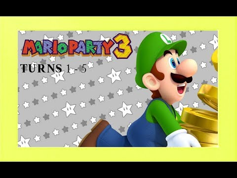 Mario Party 3: Turns 1 - 5 [Mario Party Tournament #3]