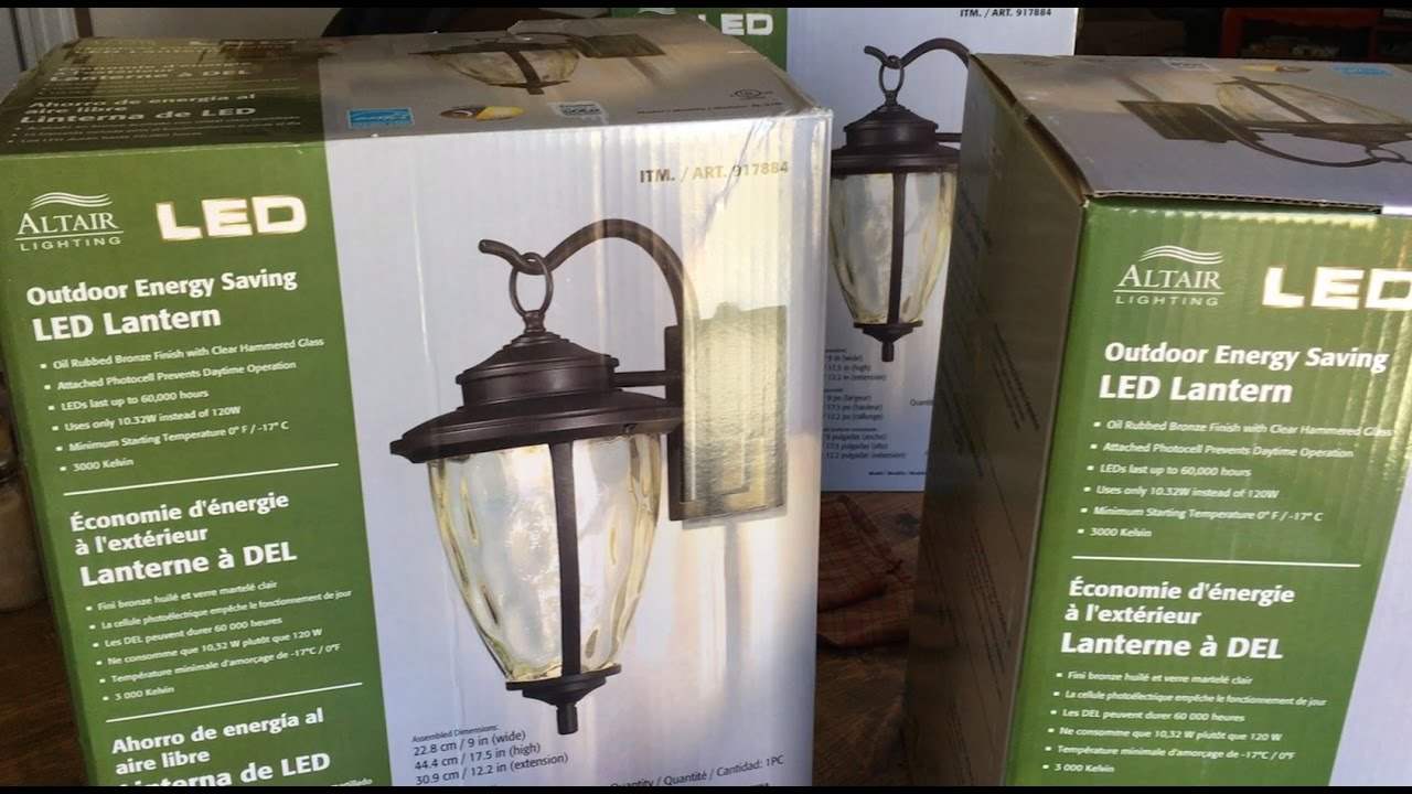 Exterior Led Light Fixtures How To Install Outdoor Light Fixture Altair Led Outdoor Energy Saving Lantern Costco Light