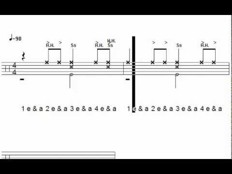"Classic Reggae ""one drop"" groove - practice drum track - YouTube"