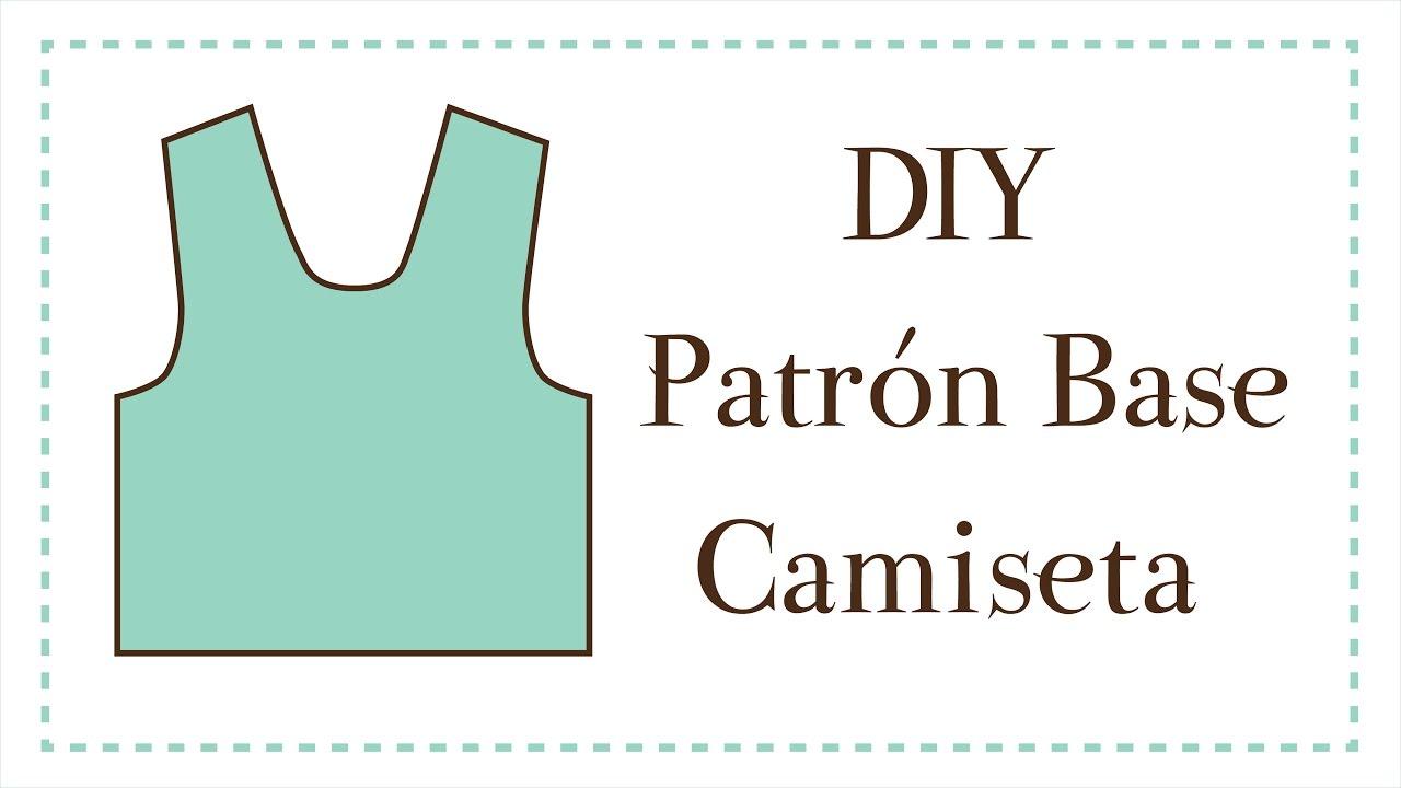 DIY - Cómo hacer el patrón base de una camiseta | MANNEKEN - YouTube