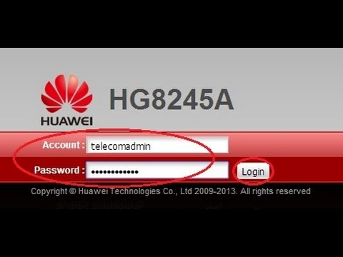 Cara merubah nama & password WiFi modem optik HUAWEI type HG8245A ...