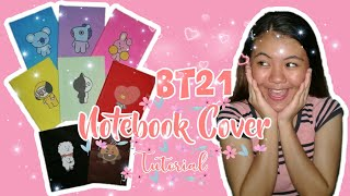 BT21 Notebook Cover #DIY #TUTORIAL #BTS #ARMY