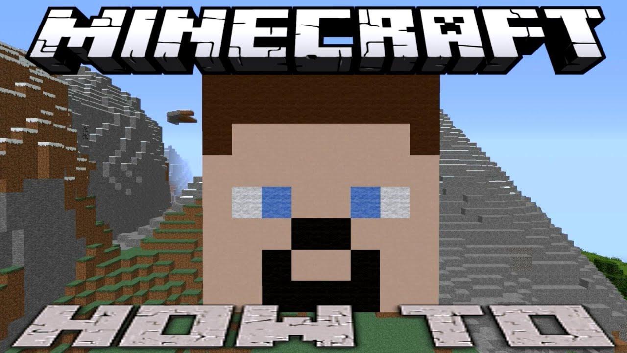minecraft steve head pixel art