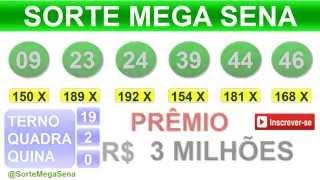 PALPITE MEGA SENA - 1739 - 05/09/2015 - sábado - RESULTADO