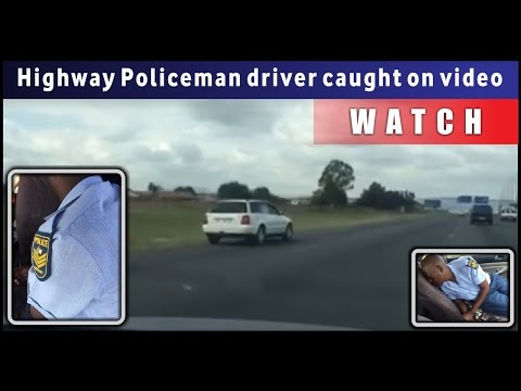 Policeman allegedly driving under the influence on Highway South Africa