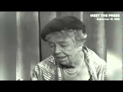"Eleanor Roosevelt on why she had ""no respect"" for Nixon"