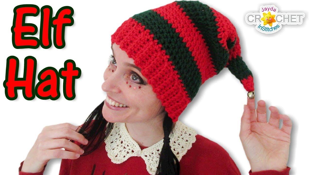 1ca3ac0af1f Elf Hat Crochet Tutorial - YouTube