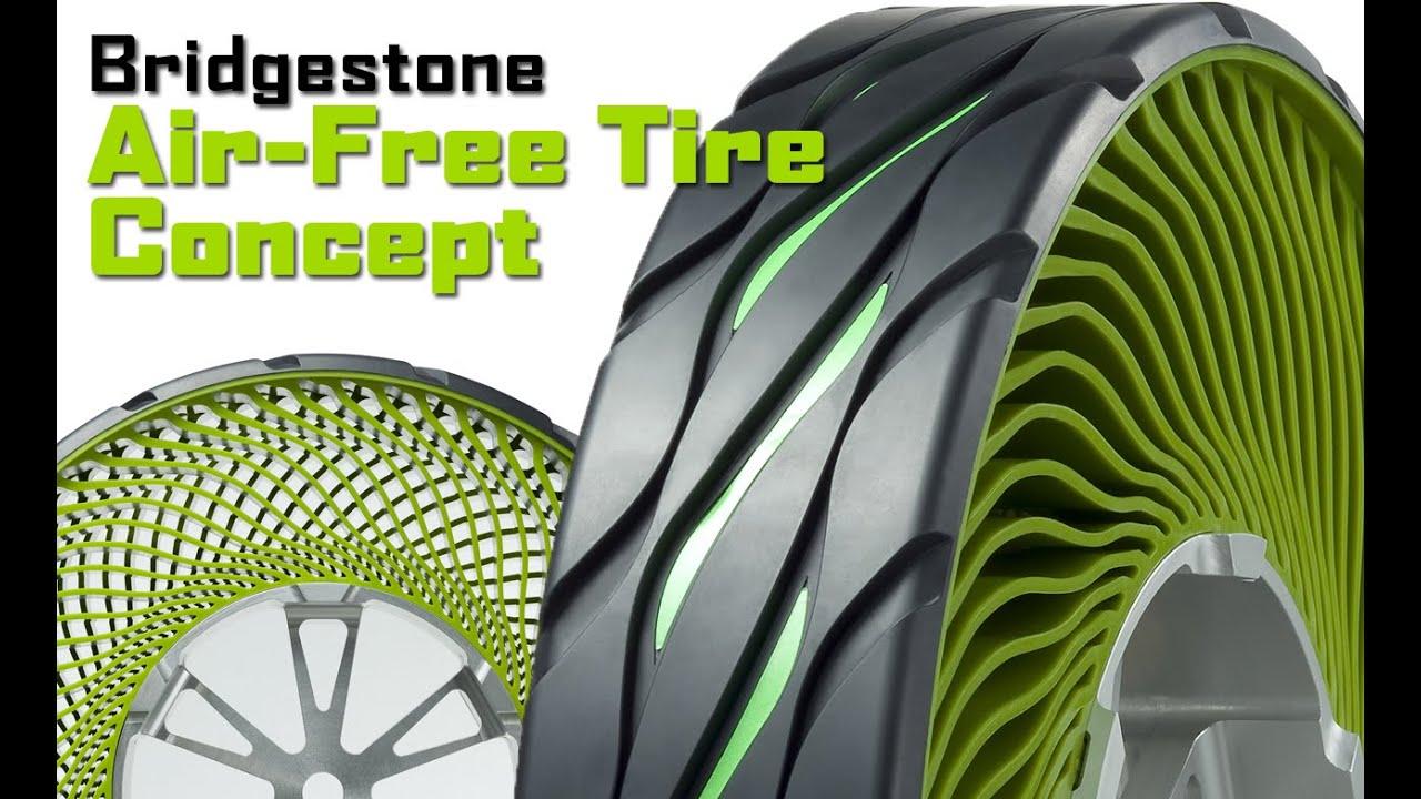 Bridgestone Introduces Air Free Concept Tyres Youtube