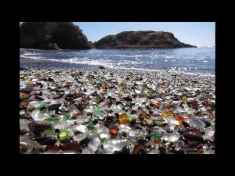 Glass Beach in California HD 2014