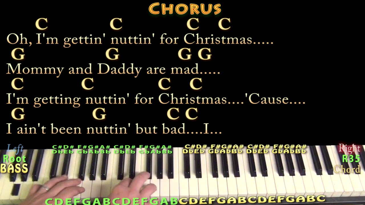 Nuttin for Christmas - Piano Cover Lesson in C with Chords/Lyrics ...