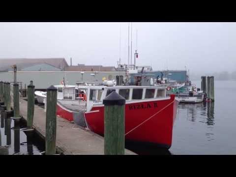 Gloucester Harbor-Fog-Tallship/Парусник-Туман-Гавань в Глостере, Массачусетс