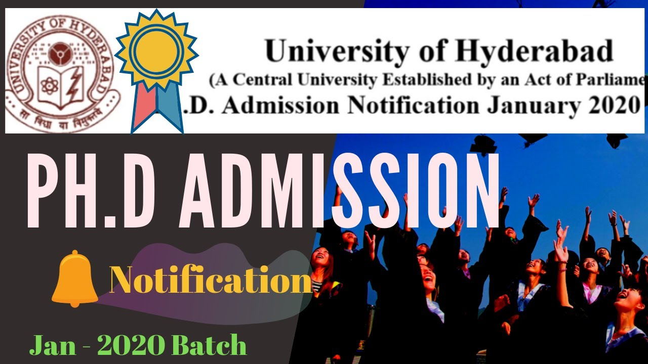University Of Hyderabad Phd Admission Notification January 2020 Youtube Ccmb Dissertation