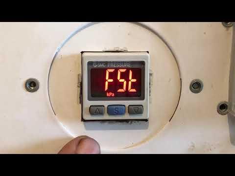 Настраиваем реле вакуума SMC Ise30a / Zse30a  на вакуумном прессе для переклейки дисплеев