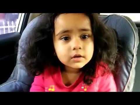 Cute Kid Singing Oodha Colour Ribbon