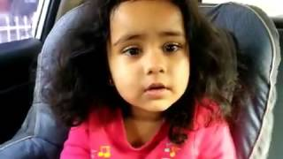 Cute Kid singing Oodha Colour Ribbon