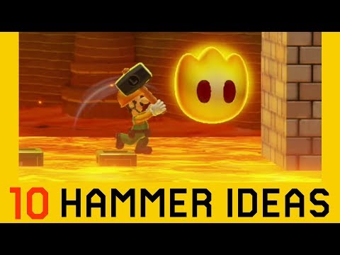 10 Ideas With The Super Hammer - Super Mario Maker 2