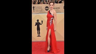 SAG Awards 2018: Alison Brie wows in dress slashed to booty and speaks out on James Franco