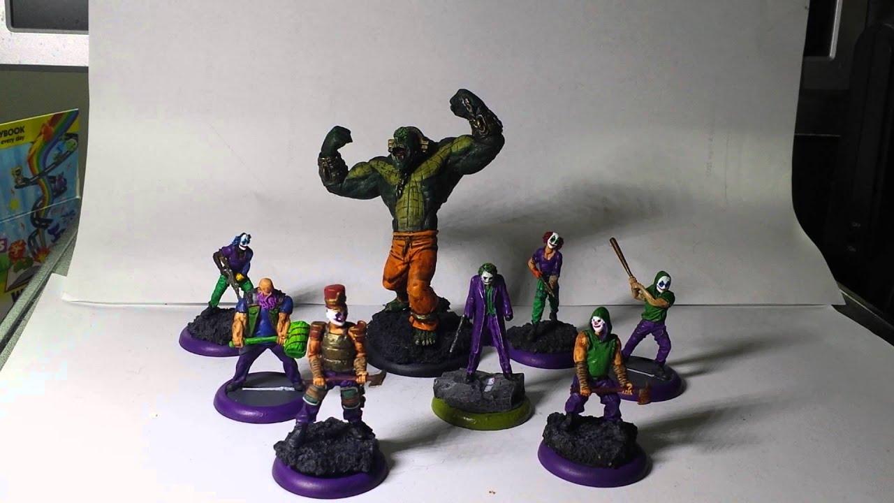 Batman miniatures game: Joker gang tourney review - YouTube