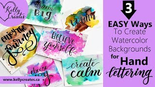 Video 3 Easy Watercolor Backgrounds for Hand Lettering & More download MP3, 3GP, MP4, WEBM, AVI, FLV Agustus 2018