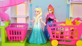 Elsa e Anna do Filme Frozen no Mini Mercado Shopkins Em Portugues!!! [Parte 2] Tototoykids