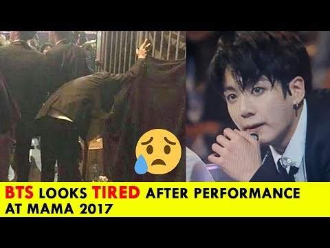 BTS Looks So Exhausted And Tired  - Especially SUGA, JUNGKOOK After Performance At MAMA 2017 (방탄소년단)
