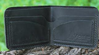 Мужской кожаный бумажник ручной работы VOILE vl-mw2-blk. Купить недорого - видео обзор