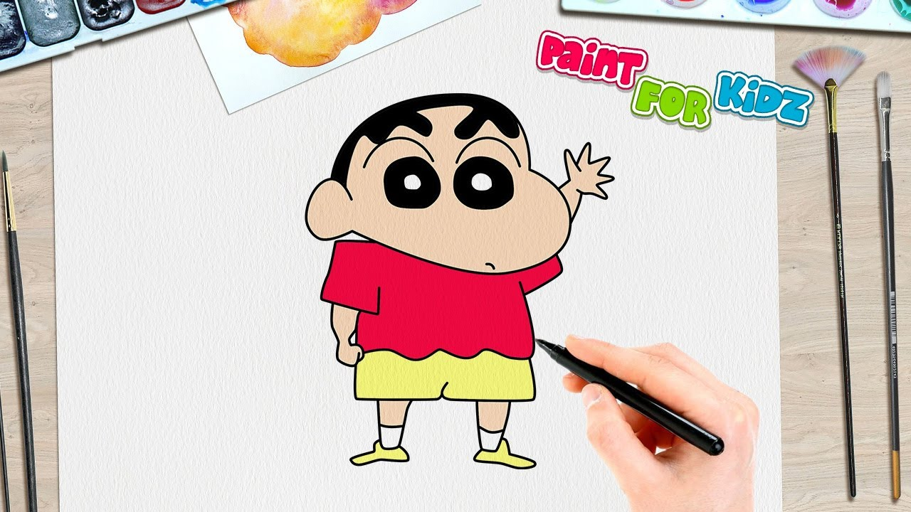 Shin Chan Drawing Simple Easy Paint For Kidz Youtube