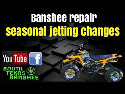 Banshee Seasonal Jetting Changes Pilot Main Youtube