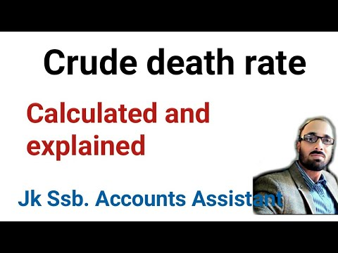 Crude death rate | calculated and explained.