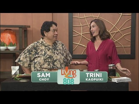 Sam Choy co-hosts and shares poke recipe on Living808