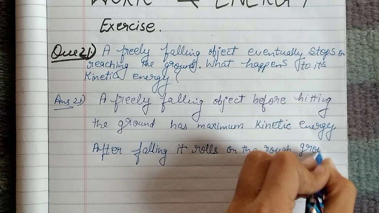 class 9 science ch 11 work and energy EXERCISE Q 21 - YouTube