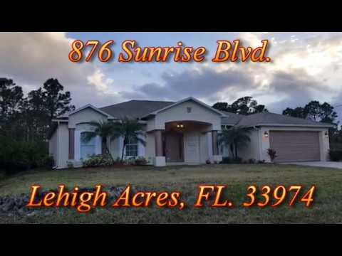 FINISHED VIDEO - 876 Sunrise Blvd , Lehigh Acres, FL  33974