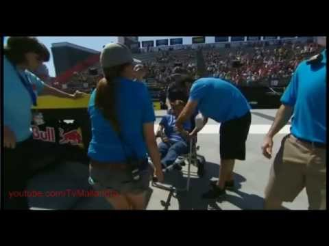 Accident on X Games Los Angeles 2013 - Rachel Reinhard