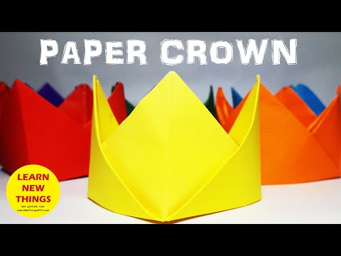 Origami Crown   Making With Paper   DIY   A4 Sheet Craft Easy