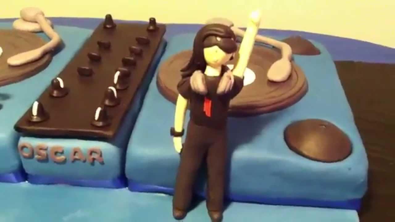 Dj Skrillex Fondant Cake Youtube
