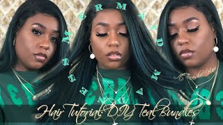 ISSA HAIR TURORIAL: MERMAID MADNESS DIY TEAL BUNDLES | ft. TINASHE HAIR