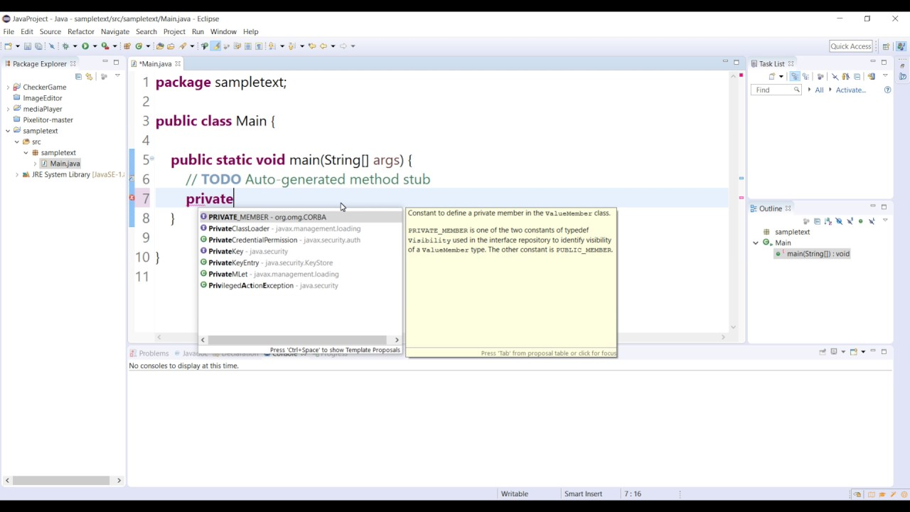 How to Turn on Code Suggestion in Eclipse Java