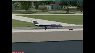 allegheny airlines bac 111 flight simulator fsx lands at friendship airport now bwi