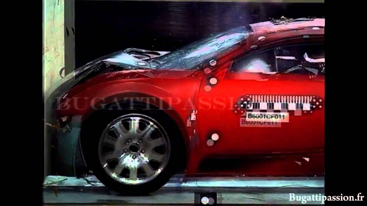 bugatti veyron crash test youtube. Black Bedroom Furniture Sets. Home Design Ideas