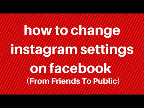 How to change instagram facebook settings